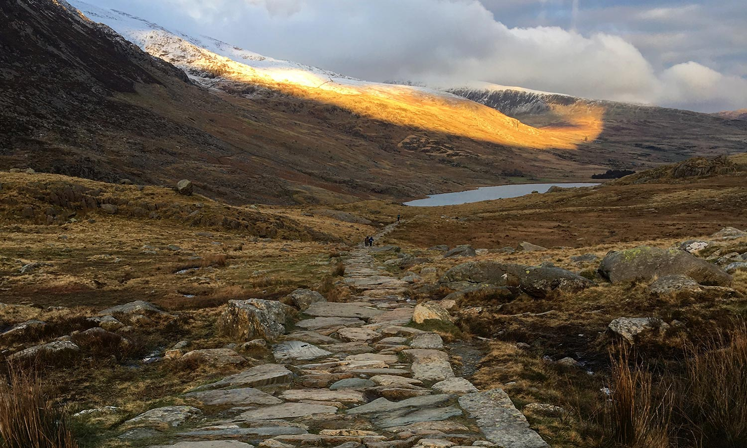 Footpath to lake Snowdonia