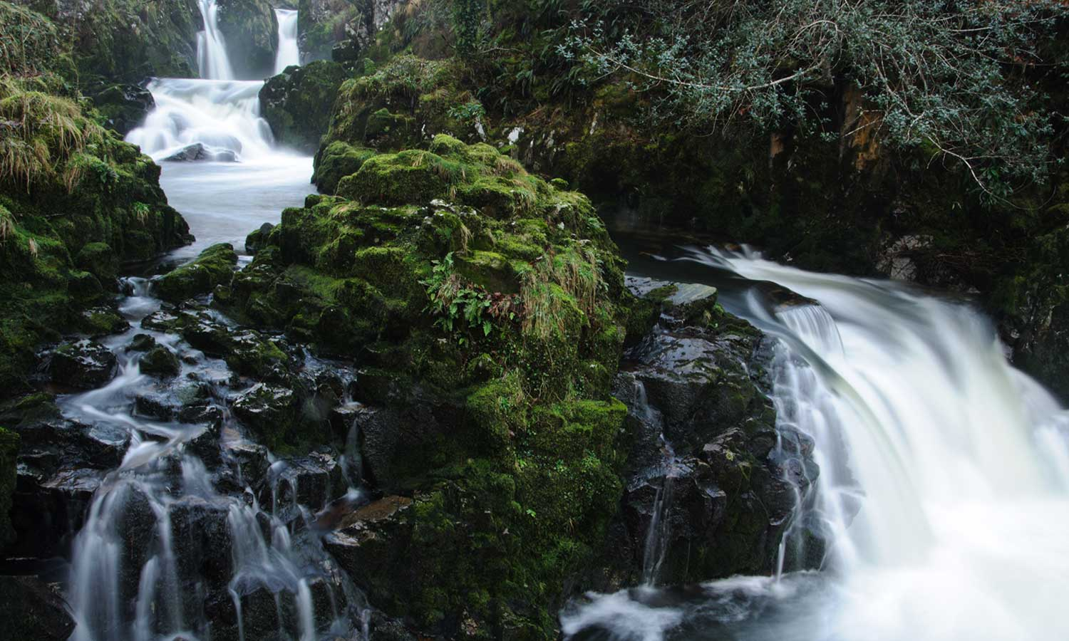waterfalls and fairy glens